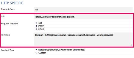 HTTP Specific Postdata