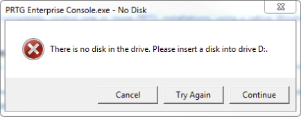 EC No Disk Error