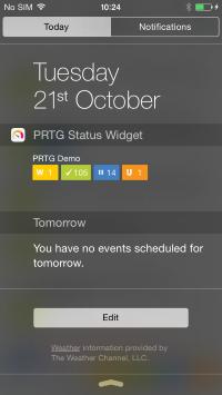 PRTG Status Widget