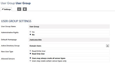 User Group Rights