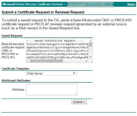 Submitting CSR