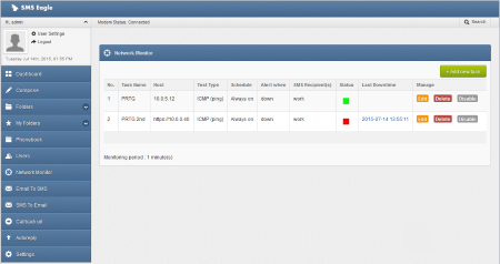 Monitoring the Availability of the PRTG Server
