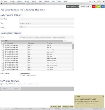 Metascan During SNMP Library Sensor Creation