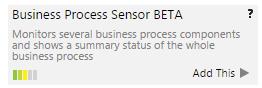 Adding the Business Process Sensor